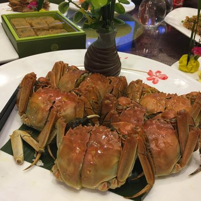 First Dinner in China – Hairy Crab