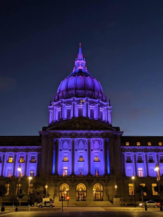 San Francisco City Hall pays tribute to AFS