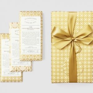 Wrapped Three-Bar Gift Set from Dandelion Chocolate