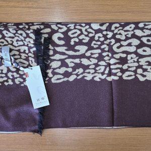 Brown & Cream Ultra-soft Silk Scarf