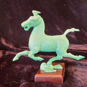 Verdigris Bronze Horse Statue